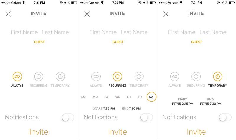 August app guest permissions