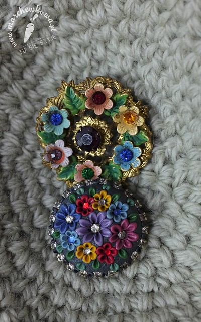 50s (top) and modern brooches