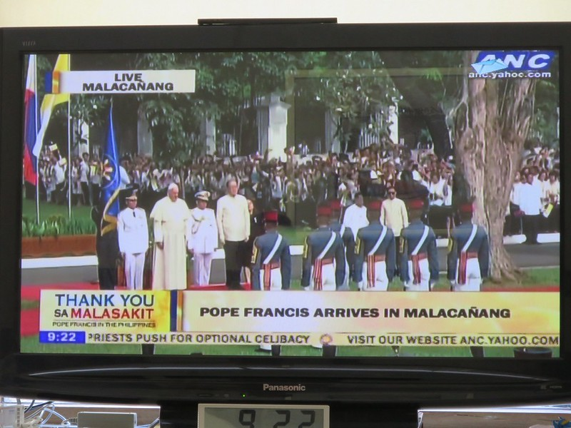 Pope Francis at Malacañan