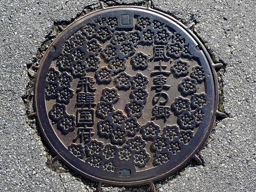 Kokufu Gifu, manhole cover (岐阜県国府町のマンホール)