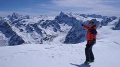 To ja i widok ze  szczytu Pigne d Arola  3796m. Matternhorn.