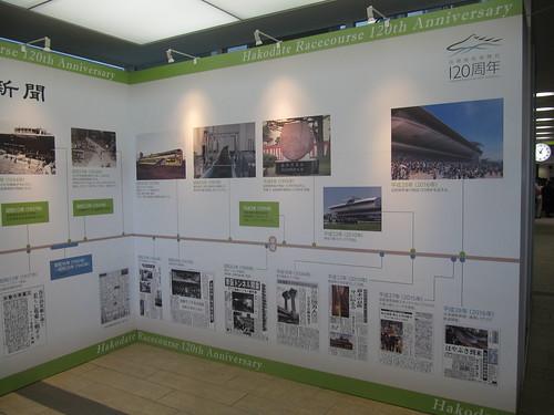 函館競馬場の120周年展示