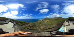 From the Makapu'u Lighthouse trail- a 360° Equirectangular VR