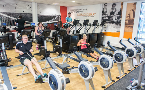 Fitness suite equipment in use