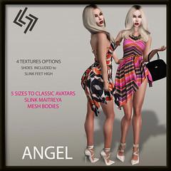 LEGENDAIRE ANGEL DRESS WITH HEELS