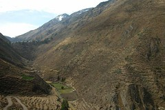 Inca Terracing on the way to the caves Image