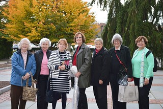WCCP-trip to Longwood Garden Oct 30, 2014-left to right: Mary Ellen Parry, Danuta Buzdygan-Stys, Ellyn Vogel, Florence Begun, Marlene Gordon, Kathleen Hutchins, Nora Ananos-DSC_0214_cx