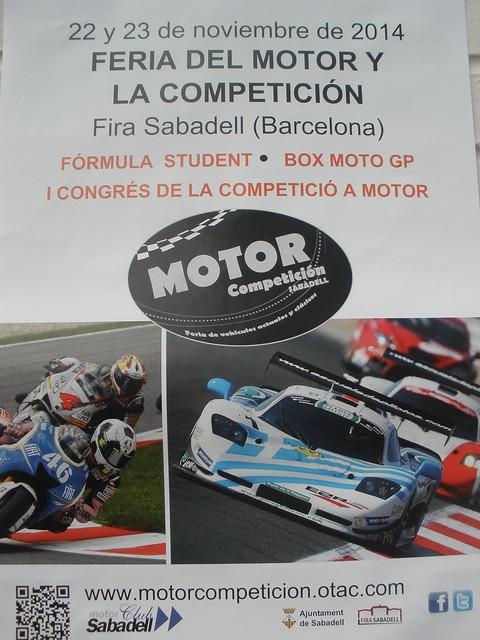 CARTEL FERIA DEL MOTOR Y LA COMPETICION