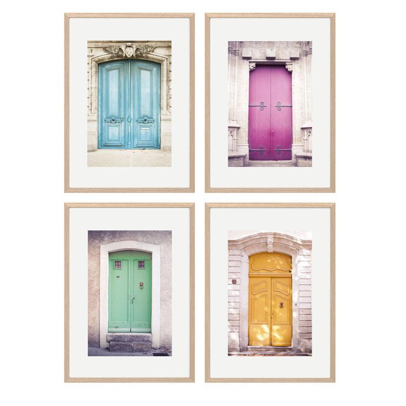 collage 4 puertas con marco