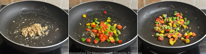 How to make capsicum rice - Step3