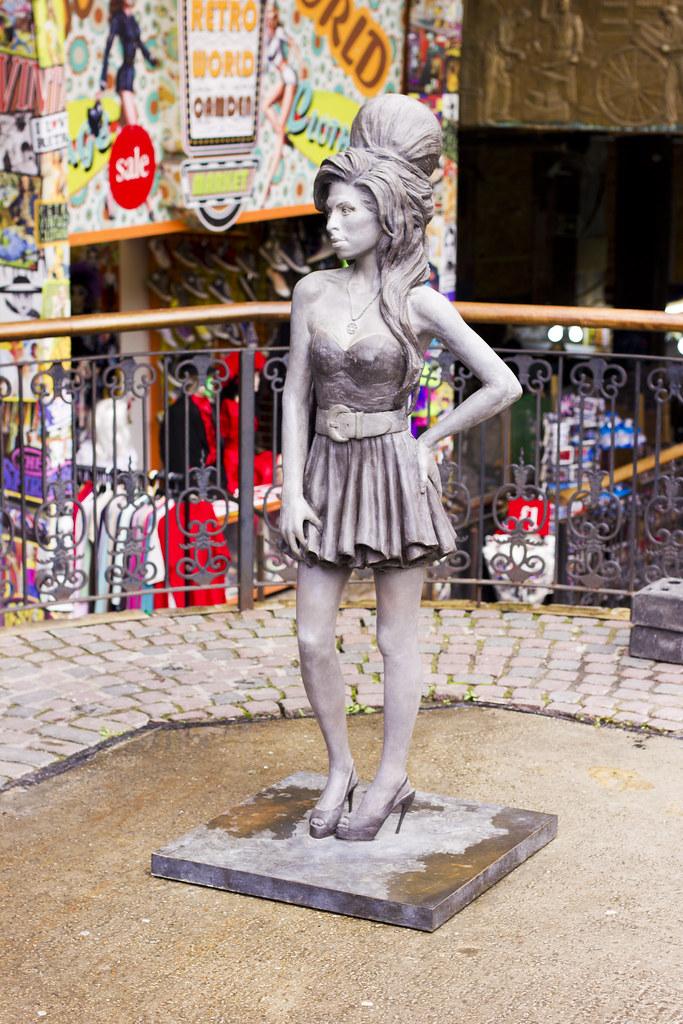 Laila Camden town camden market amy winehouse stables statue