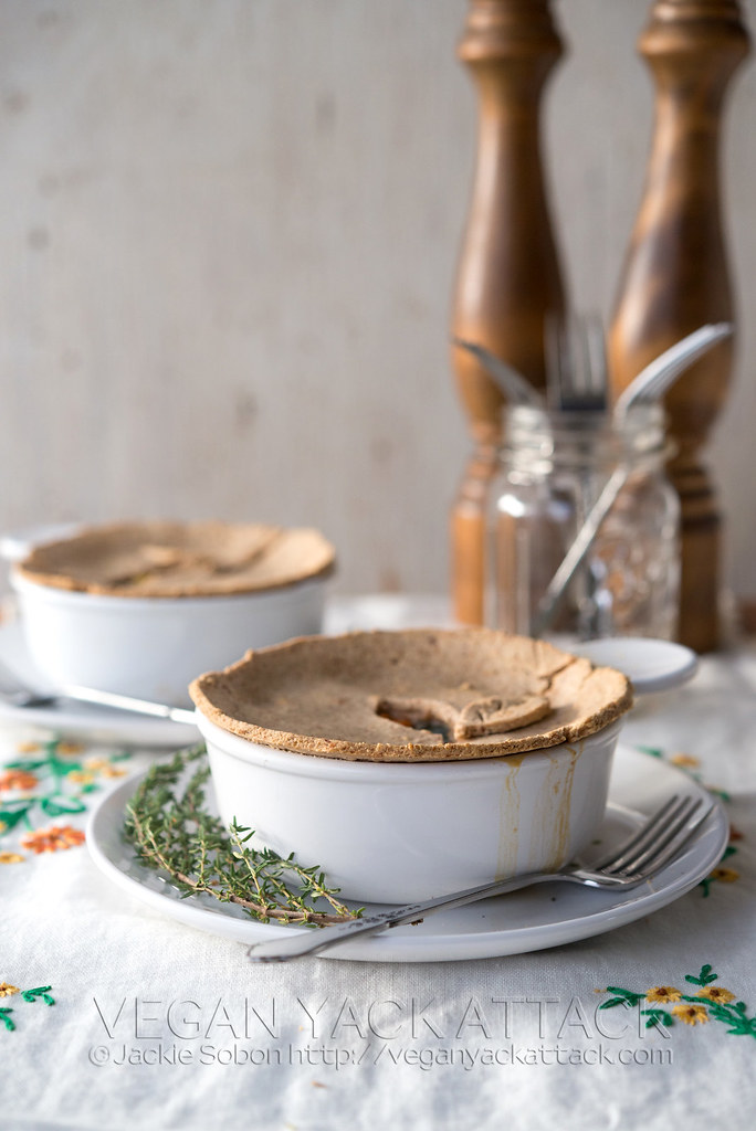 Delicious, gluten-free, plant-based, SUPER-VEGGIE Pot Pies from Yum Universe by Heather Crosby!