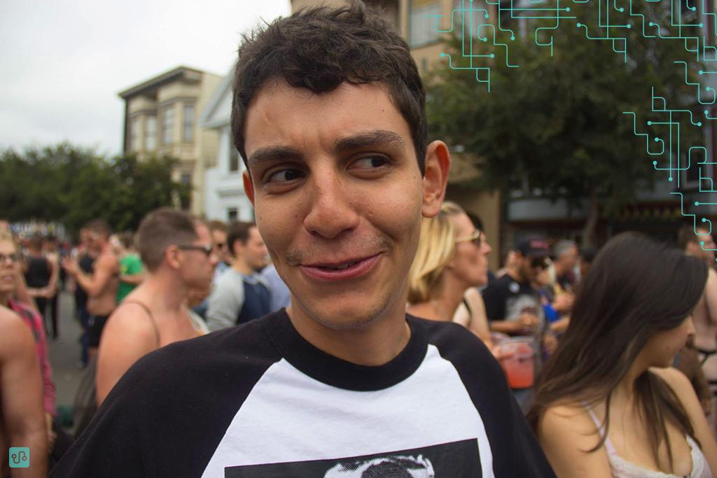 Minha expressão define o que foi a Folsom Street Fair