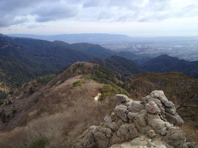 鎌ヶ岳 雲母峰-鎌ヶ岳登山道 白ハゲから馬の背尾根