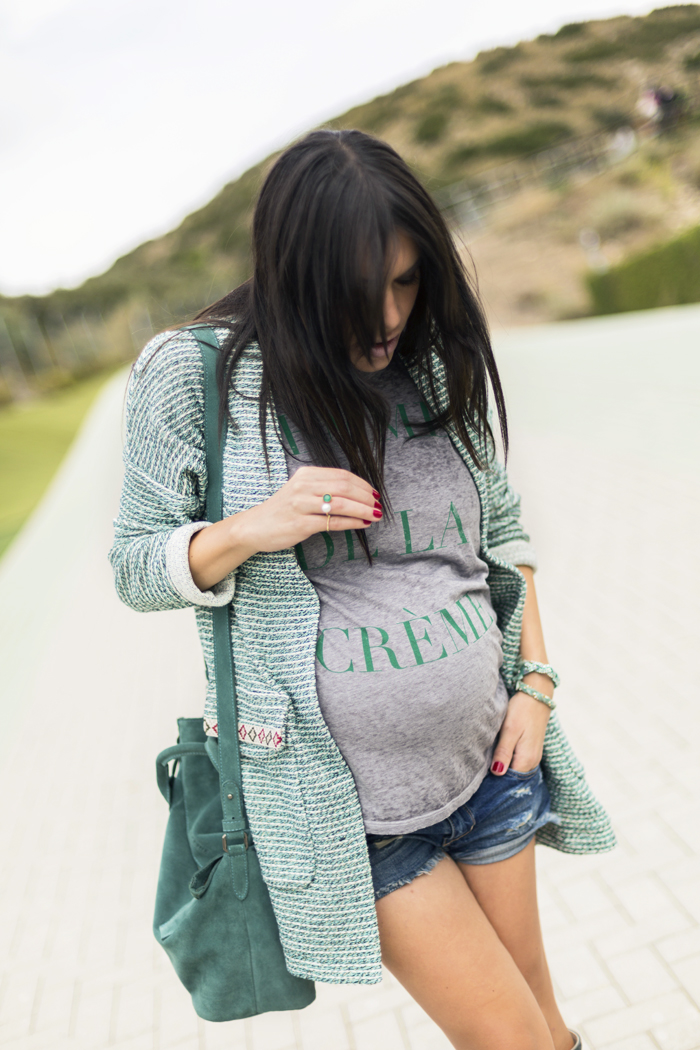 barbara crespo pregnancy outfits review pregnant street style fashion blogger outfit blog de moda