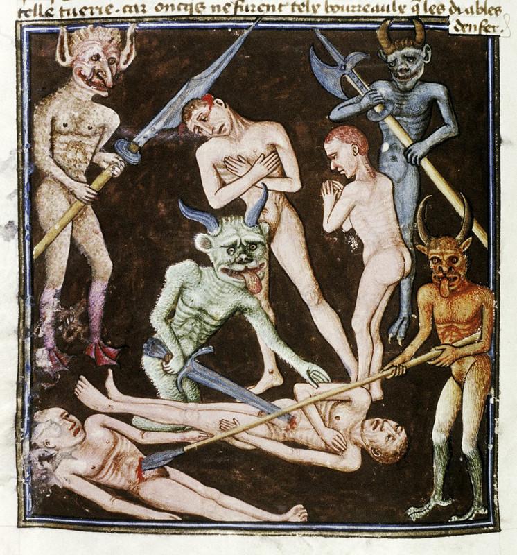 Demons From The Livre de la vigne nostre Seigneur, 1450 - 70 (7)