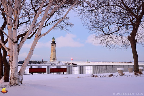 christmas winter light lighthouse white lake snow ny newyork tree ice architecture marina river landscape outdoors photography frozen buffalo cityscape waterfront hyperfocal main freezing erie distance eriebasin sharpness
