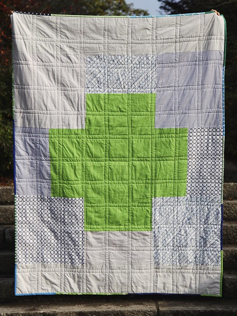 STQB Giant Cross quilt - back