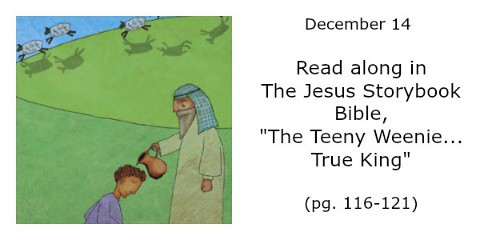 A page from the Advent Calendar based on The Jesus Storybook Bible