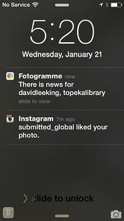 screenshot of fotogramme app on my iphone