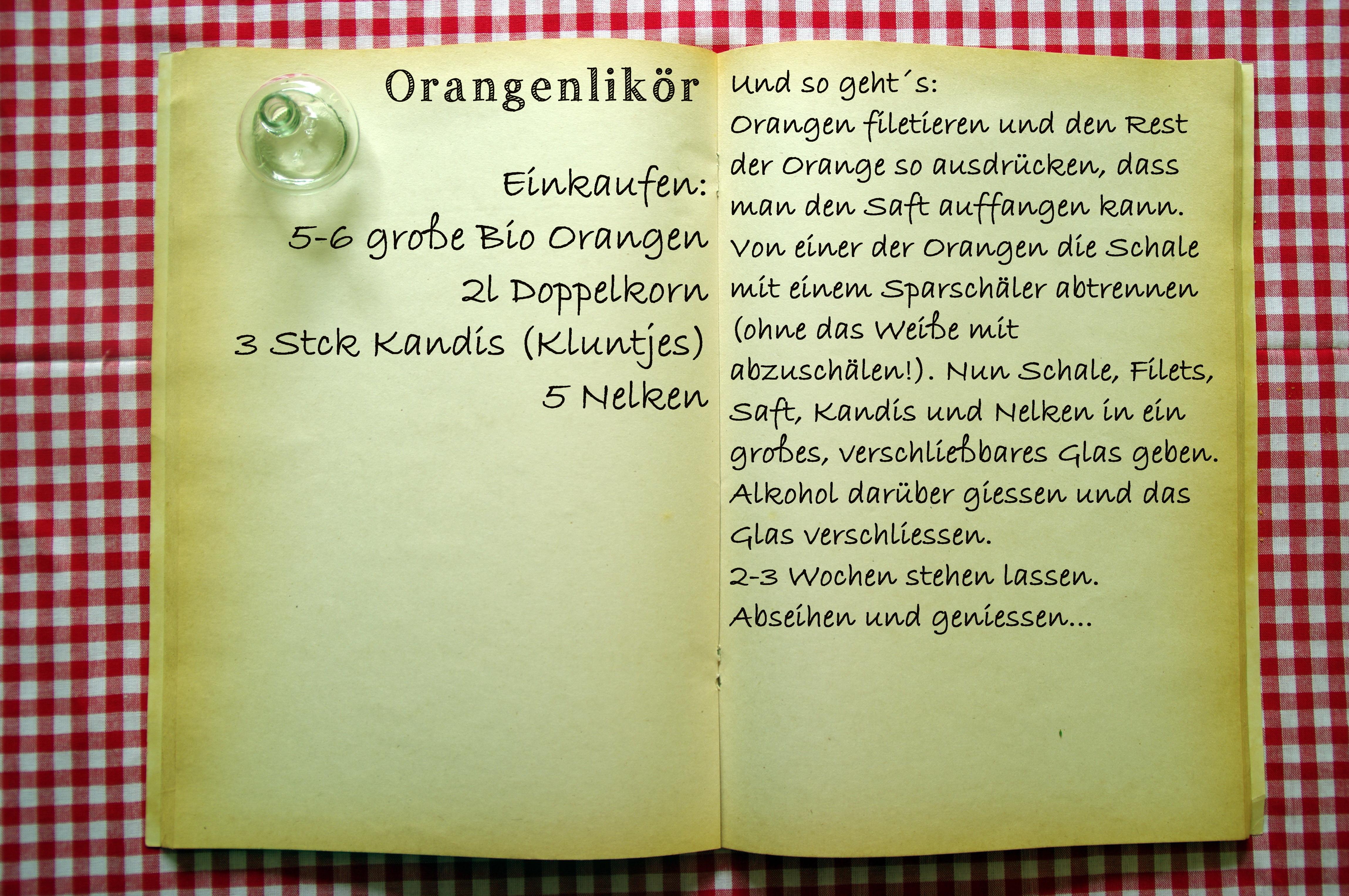 Einkaufszettel Orangenlikör by Glasgeflüster
