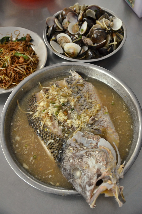 Steamed Snapper Fish Head