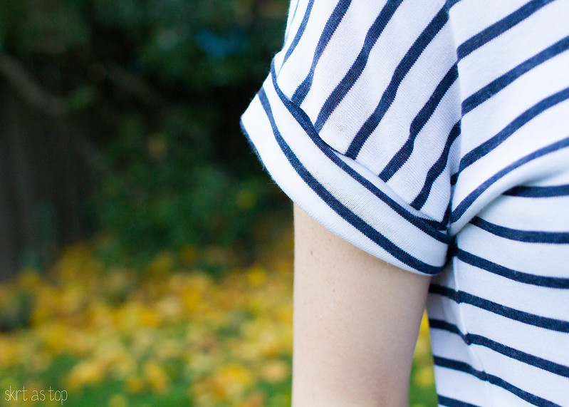 stripey bento tee // skirt as top
