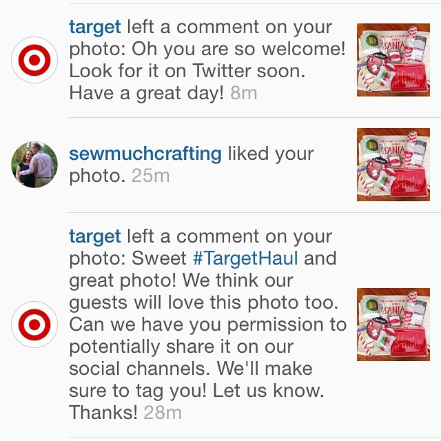 That day when Target posted your IG photo on Twitter! So exciting! Love Target! ❤️👍😄