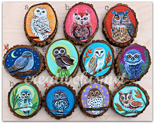 Owl Ornaments by Regina Lord