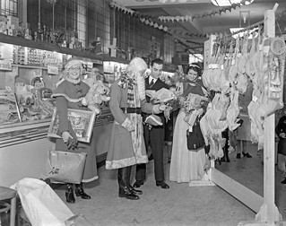 Father & Mother Christmas, Food Hall, Busbys' Department Store