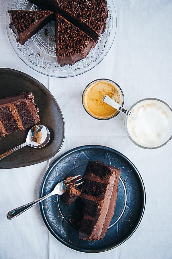 Chocolate & Espresso B-Day Cake