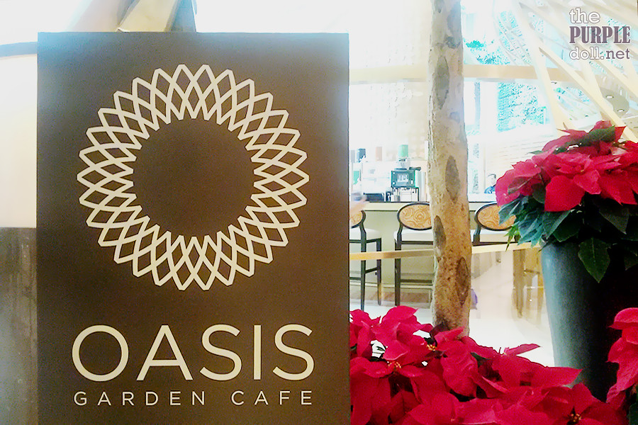Oasis Garden Cafe at Solaire's new Sky Tower