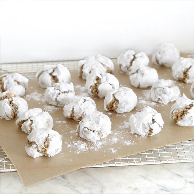 Biscuits de Noël - Boules de neige à la noisette