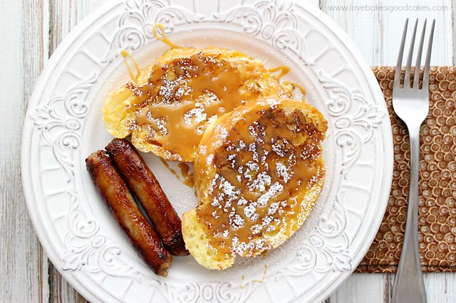 Salted Caramel French Toast - An easy and delicious way to start your day! Great for brinner (breakfast for dinner) too!
