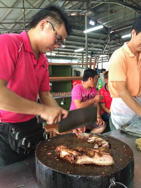 Sandakan Kim Fung Market roasted pork