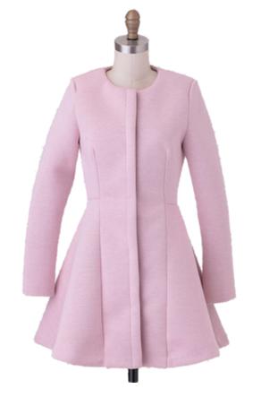pink coat ruche