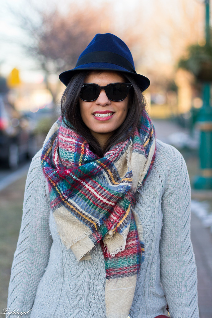 grey sweater, plaid scarf, wool fedora-3.jpg