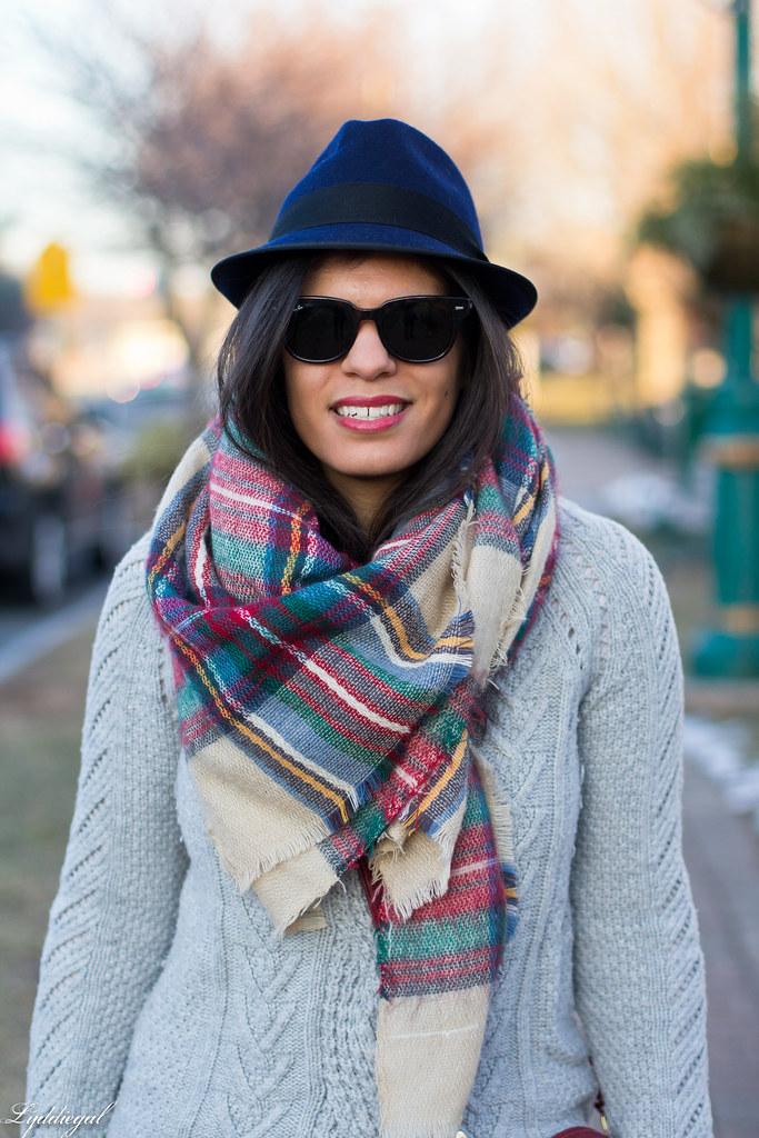grey sweater, plaid scarf, wool fedora-3.jpg