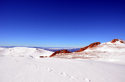red rocks and ice