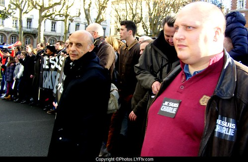 Manifestation Je suis Charlie le 11 janvier 2015 à Lyon