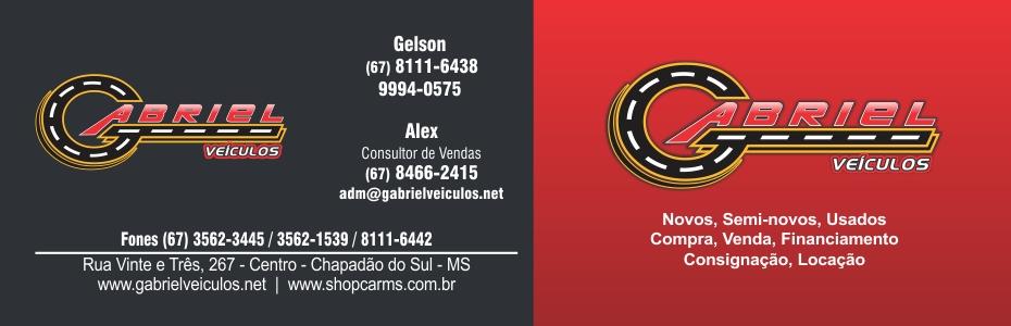 GABRIEL VEÍCULOS CARTÃO VERNIZ LOCALIZADO