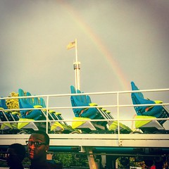There was a rainbow over South Carolina today :rainbow::roller_coaster: #carowinds