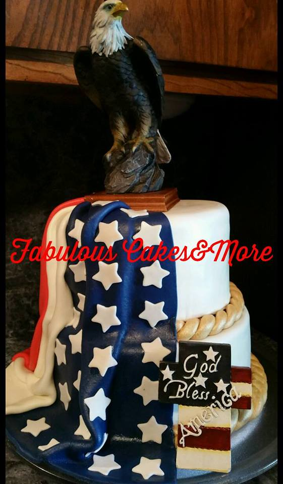 4th of July Themed Cake by Fabulous Cakes&More