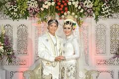 Indonesian Muslim Javanese bride+groom wedding dress. Wedding photo for @dzikrinaf & @galih.edy at Sleman Yogyakarta. Foto wedding by @poetrafoto, http://wedding.poetrafoto.com  Follow IG: @poetrafoto for more wedding photos update! Thank you :kissing_hea