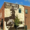 This #machine kills #fascists #guitar #WoodyGuthrie #streetart #urbanart #mural #graffiti #Tulsa #Oklahoma #folk #music #icon