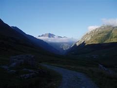 Early morning views as we climb towards Col de la Seigne 2516m Image