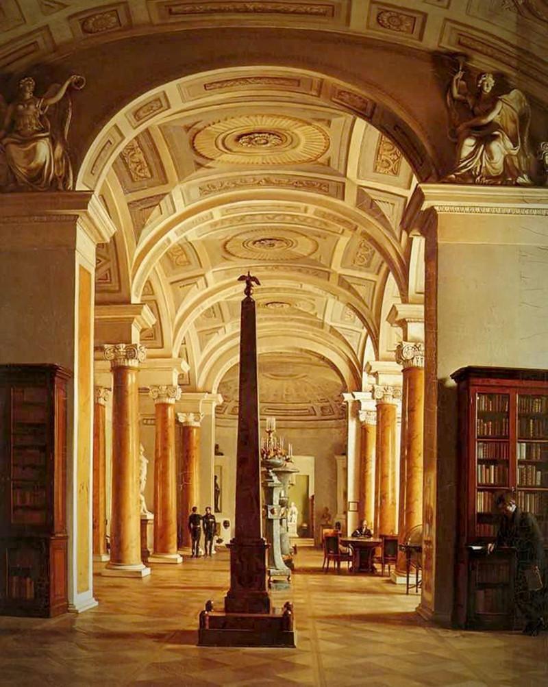 Hermitage Library by Alexey Tyranov, 1827
