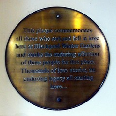 Photo of Blackpool Winter Gardens bronze plaque