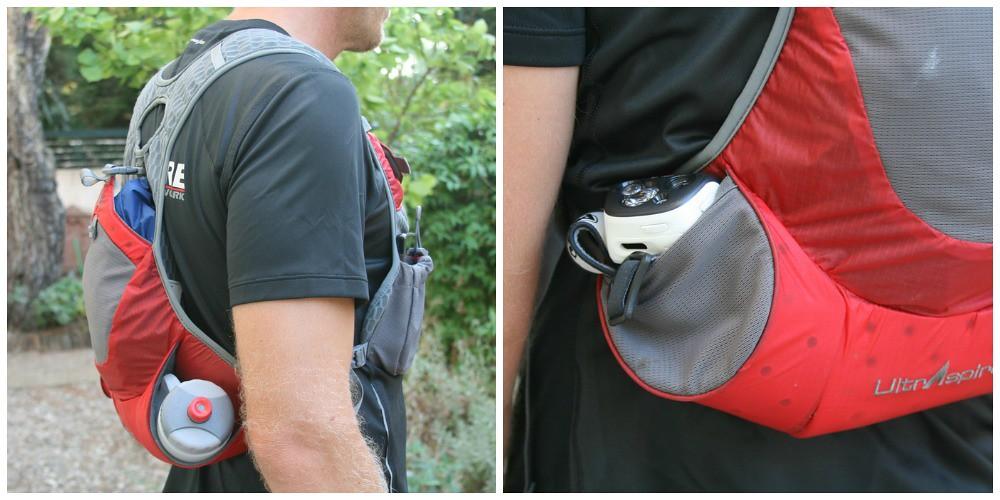 Το Revolution από άλλες γωνίες. Αριστερά διακρίνεται η καλή εφαρμογή του ενώ δεξιά βλέπετε την πλαϊνή πίσω τσέπη η οποία μπορεί να αποθηκεύσει εξοπλισμό ... ταχείας ανάγκης όπως φακό, ελαφρύ αντιανεμικό, πτυσσόμενο ποτηράκι