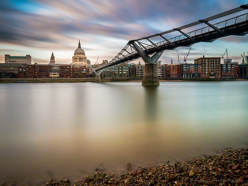 city uk longexposure bridge england london water thames clouds river europe cityscape cathedral britain stpauls olympus omd em5 1250mmf3563mzuiko